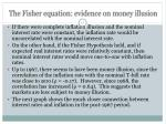 the fisher equation evidence on money illusion