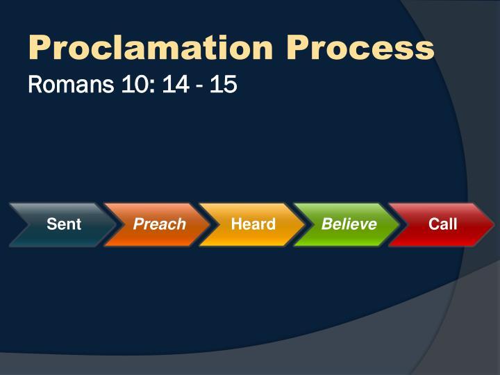 Proclamation Process