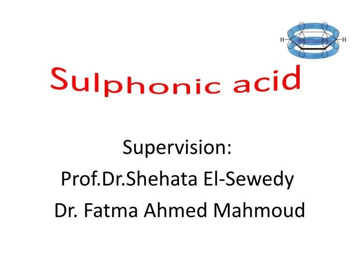 Sulphonic
