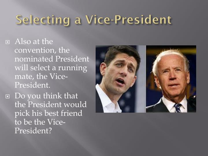 Selecting a Vice-President