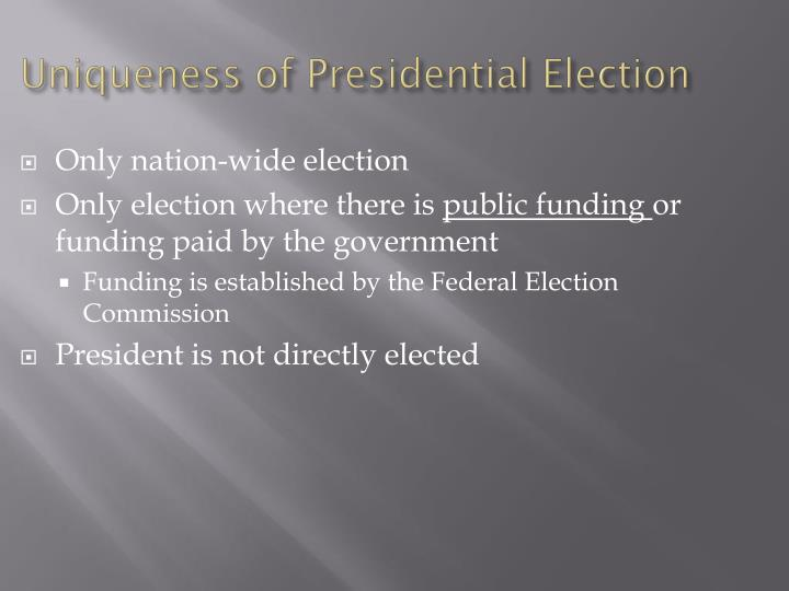Uniqueness of Presidential Election