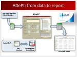 adept from data to report