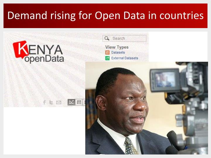 Demand rising for Open Data in countries