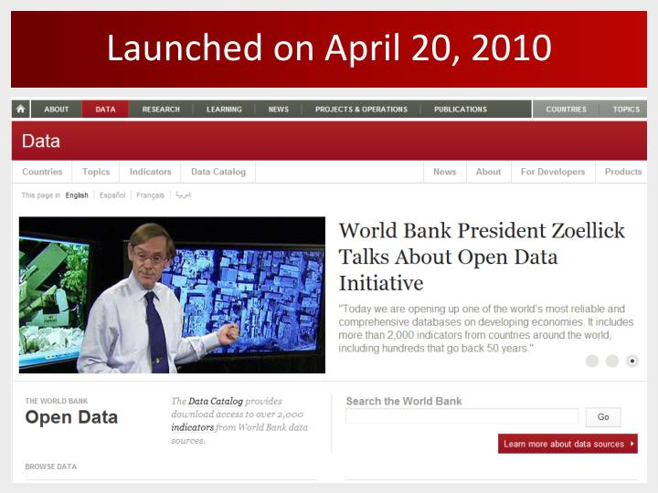 Launched on april 20 2010