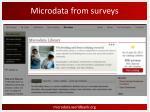 microdata from surveys