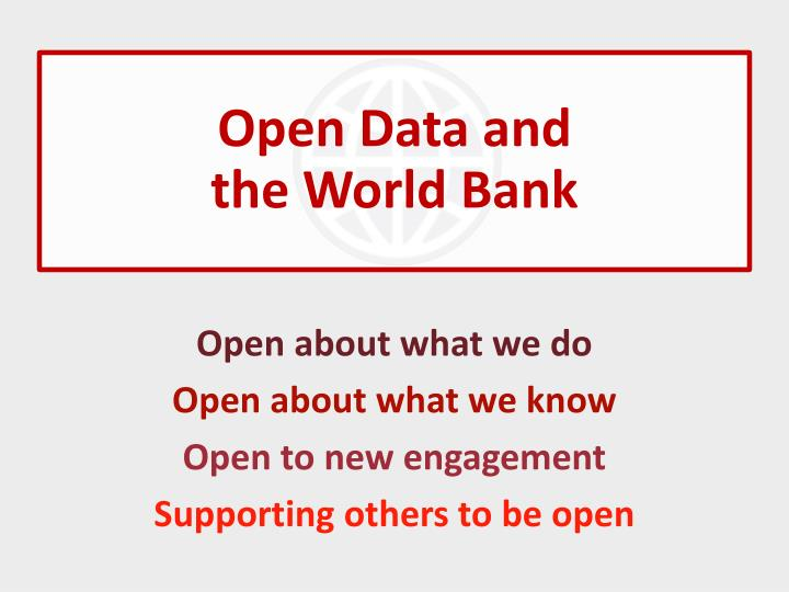 Open Data and