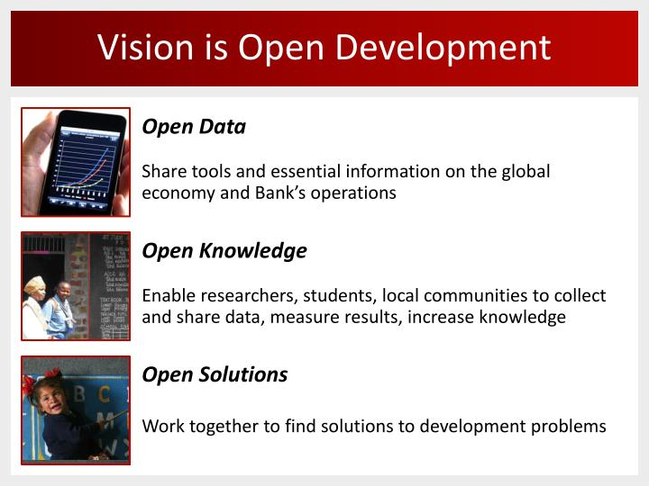 Vision is open development
