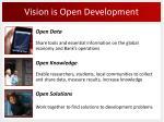 vision is open development