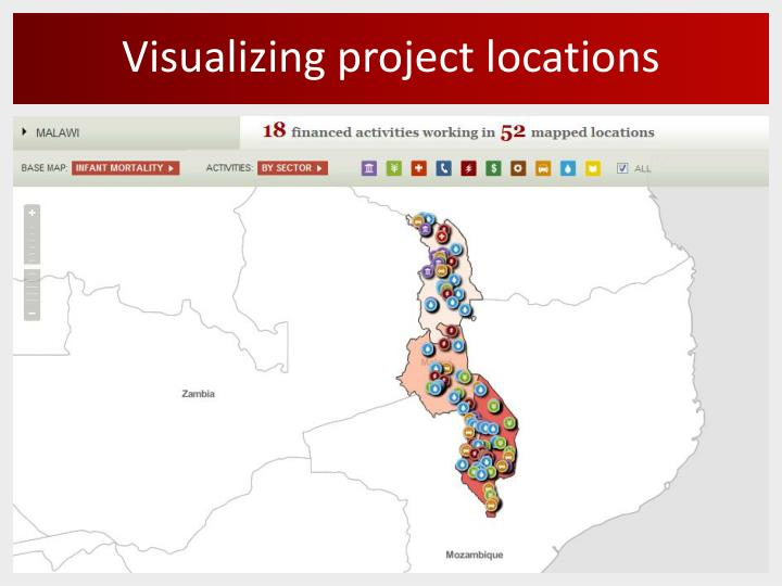 Visualizing project locations