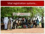 vital registration systems