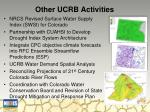 other ucrb activities