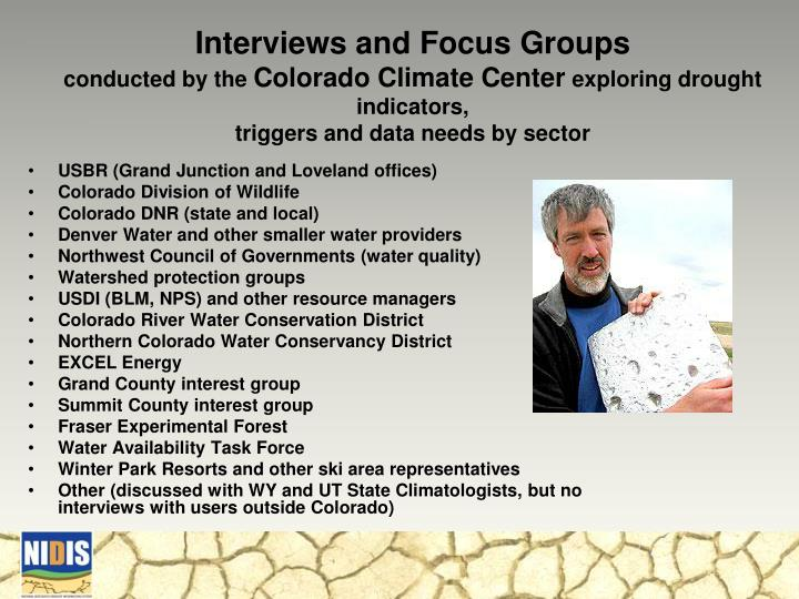 Interviews and Focus Groups