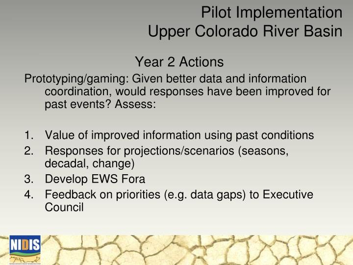 Pilot Implementation