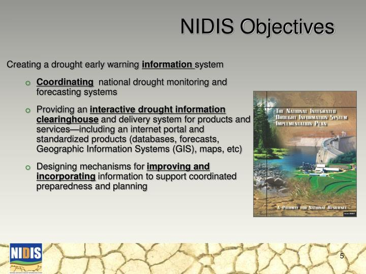 NIDIS Objectives