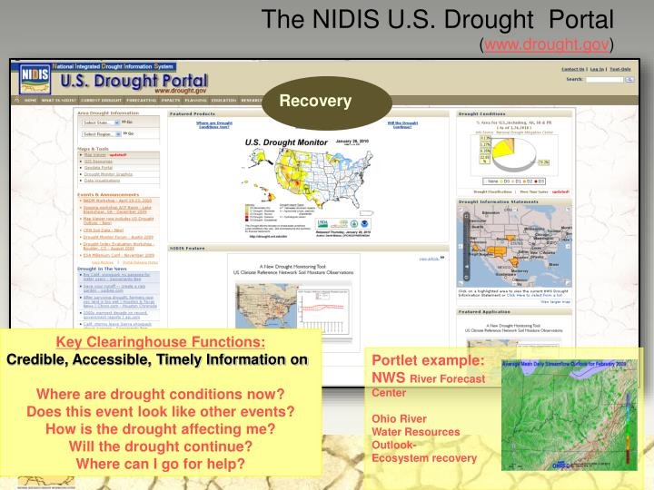 The NIDIS U.S. Drought  Portal