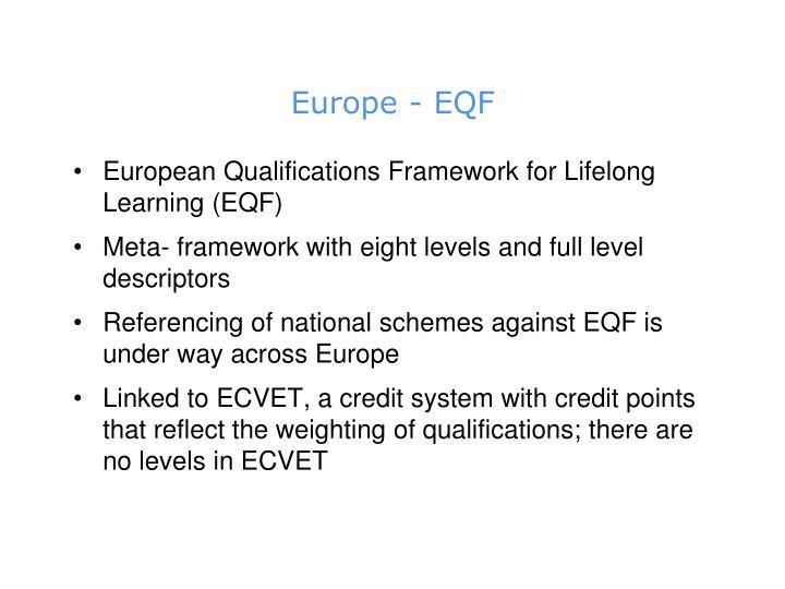 Europe - EQF