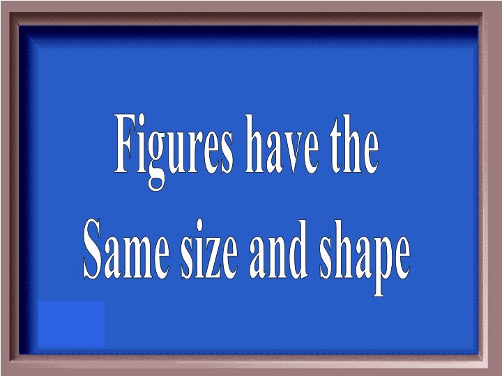 Figures have the