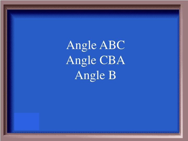 Angle ABC