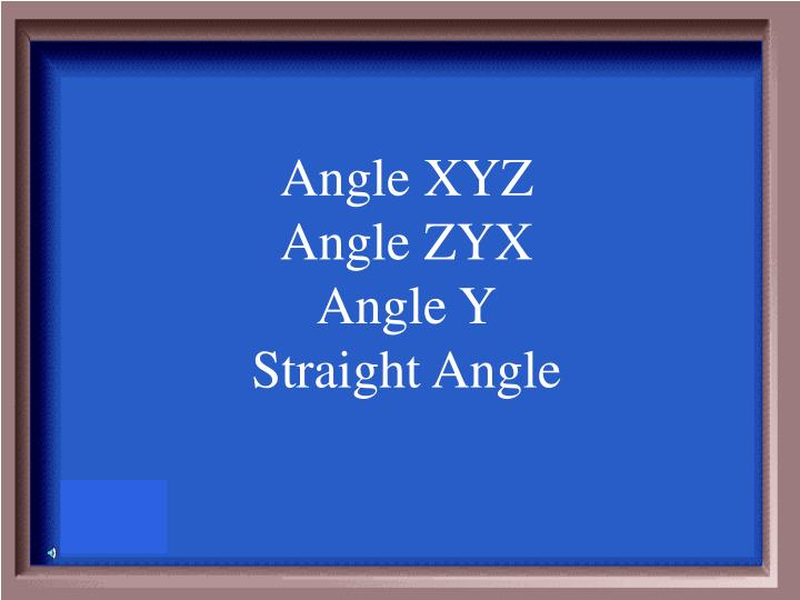 Angle XYZ