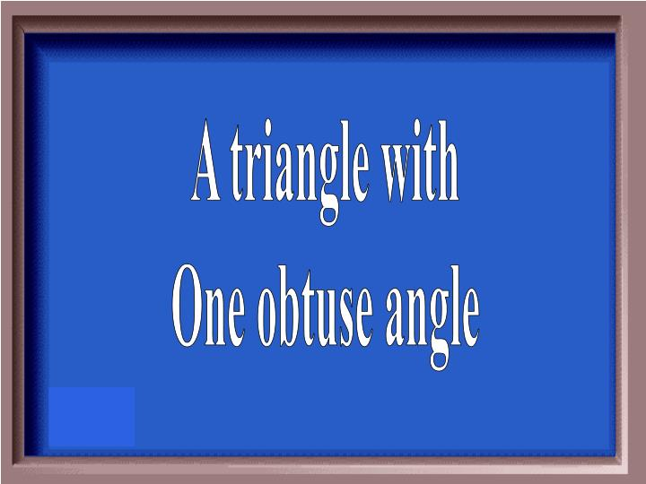 A triangle with