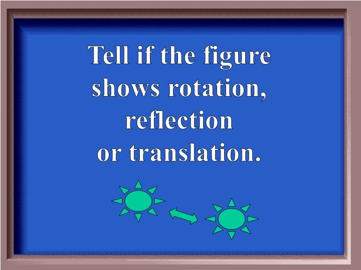 Tell if the figure shows rotation, reflection