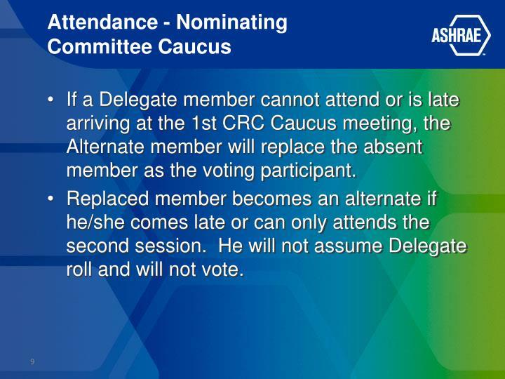 Attendance - Nominating