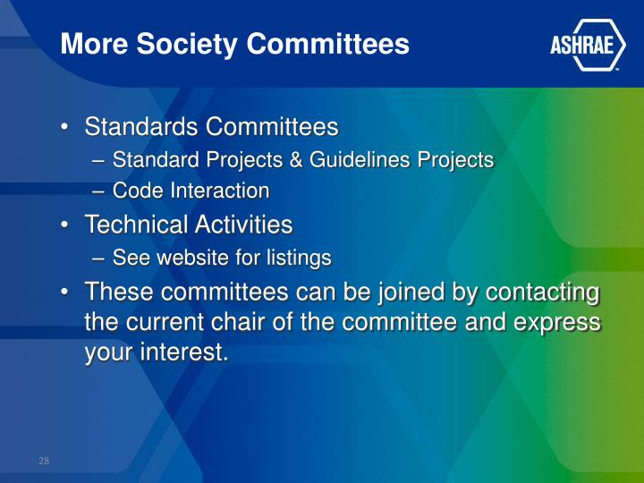 More Society Committees