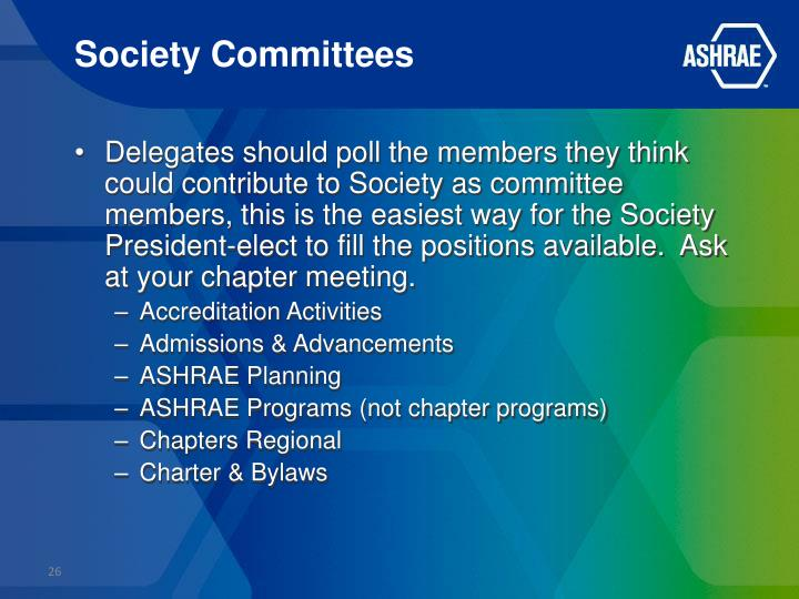 Society Committees