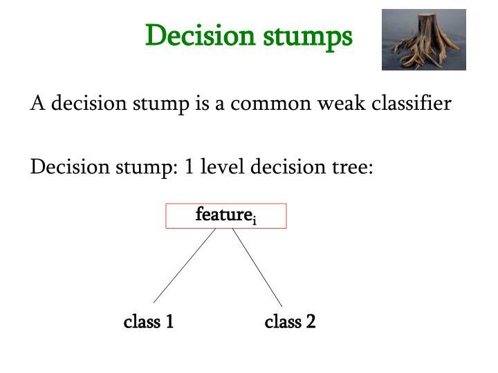 Decision stumps