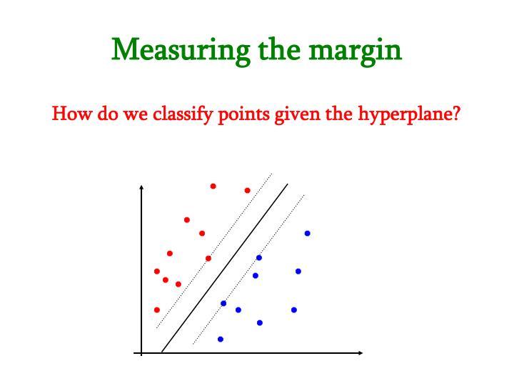 Measuring the margin