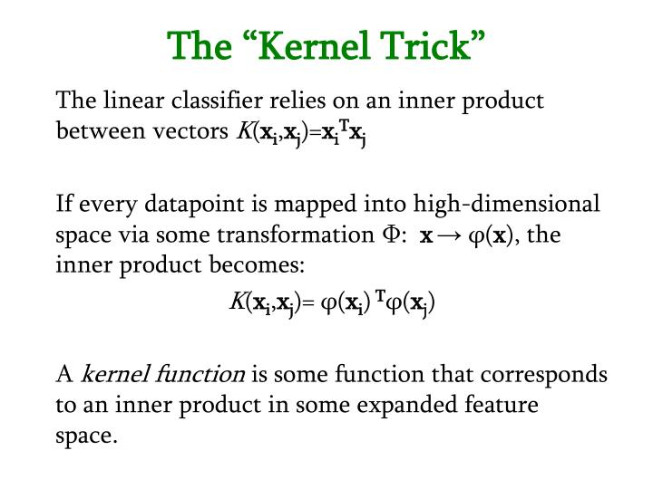 """The """"Kernel Trick"""""""