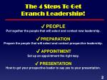 the 4 steps to get branch leadership1