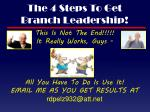 the 4 steps to get branch leadership2