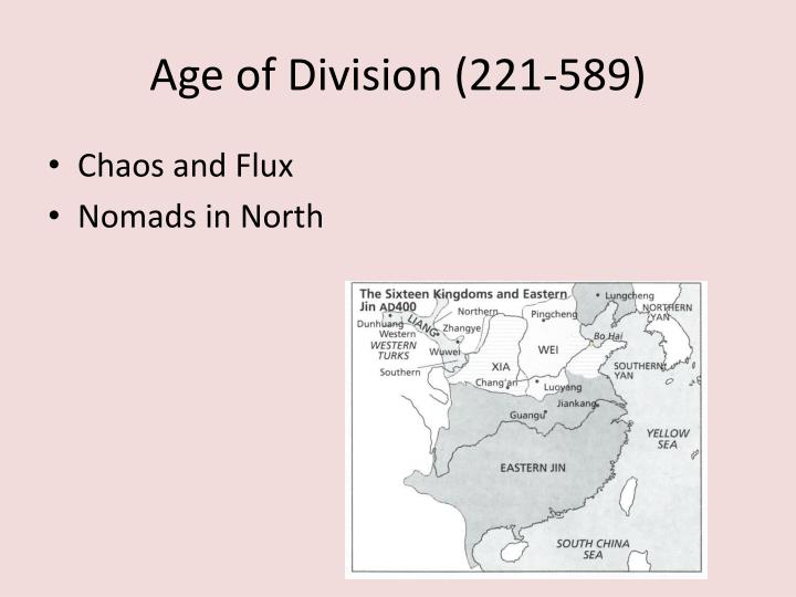 Age of Division (221-589)