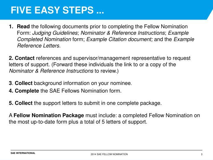FIVE EASY STEPS ...