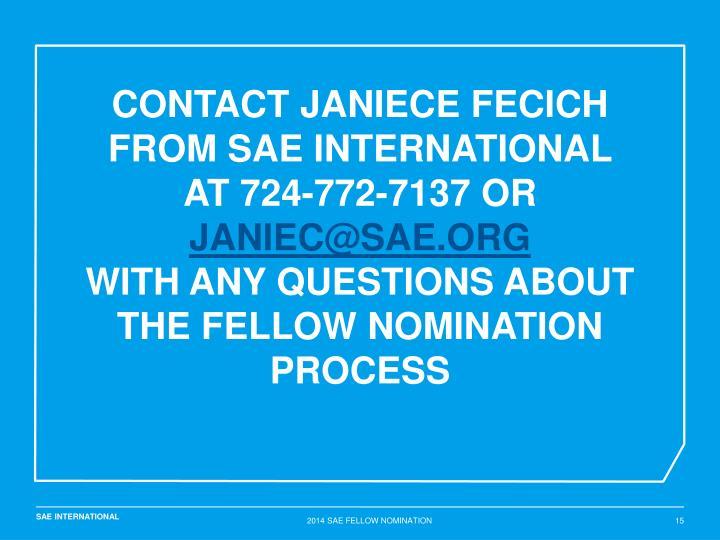 Contact Janiece