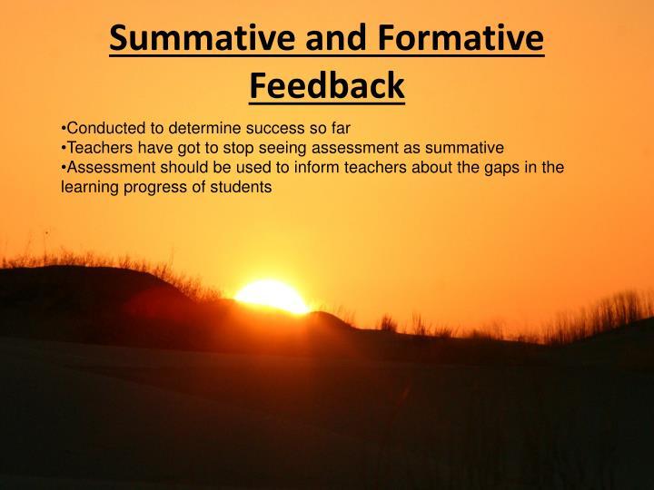 Summative and Formative Feedback