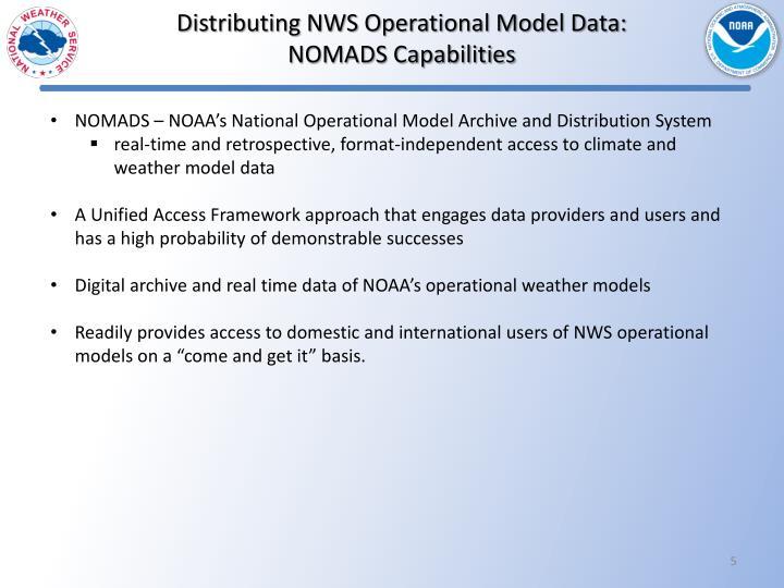 Distributing NWS Operational Model Data: