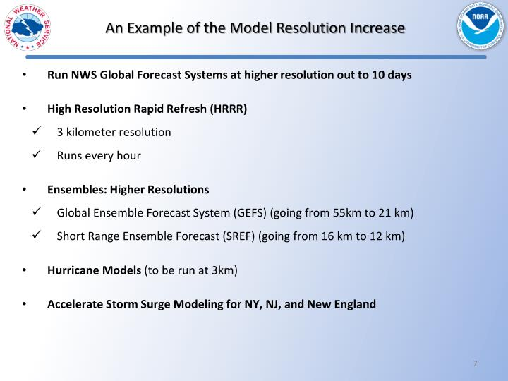 An Example of the Model Resolution Increase