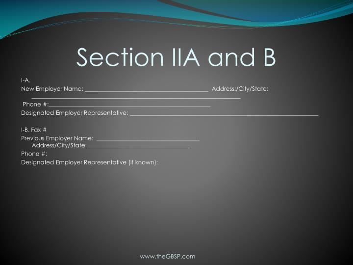 Section IIA and B
