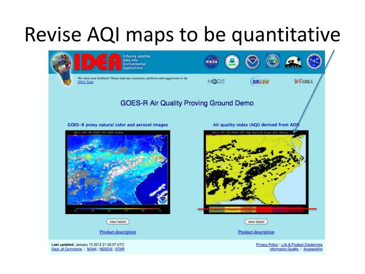 Revise AQI maps to be quantitative