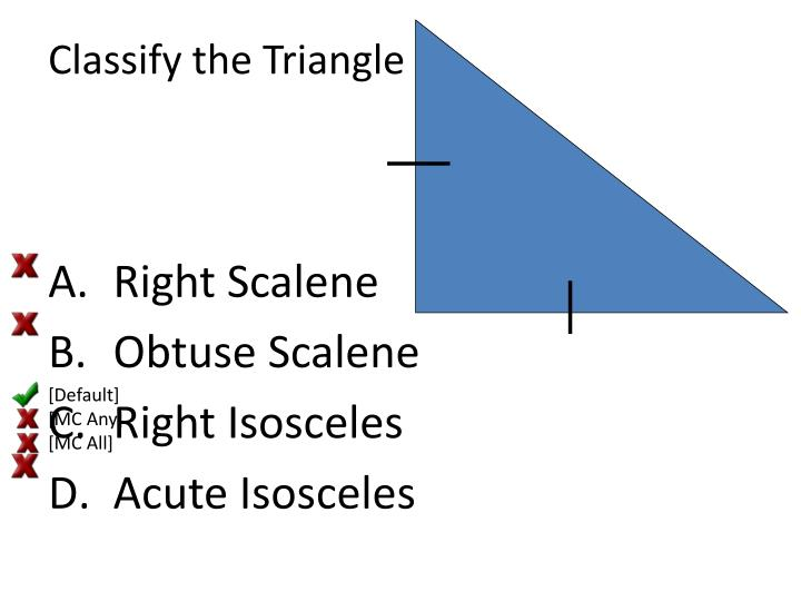 Classify the triangle