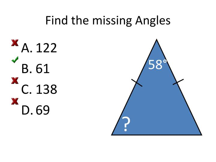 Find the missing Angles