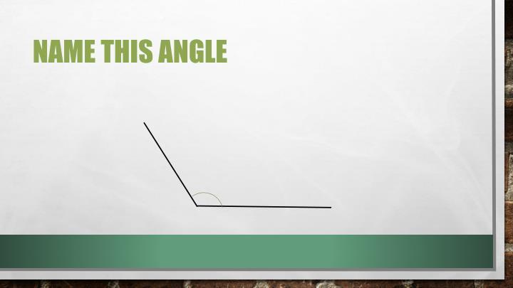 Name this Angle