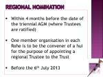 regional nomination