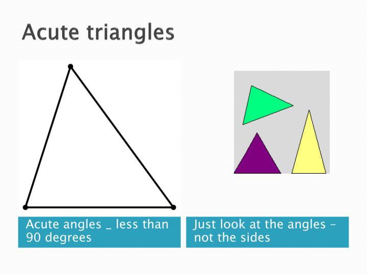 Acute triangles