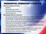 p residential nomination election