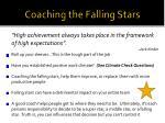 coaching the falling stars