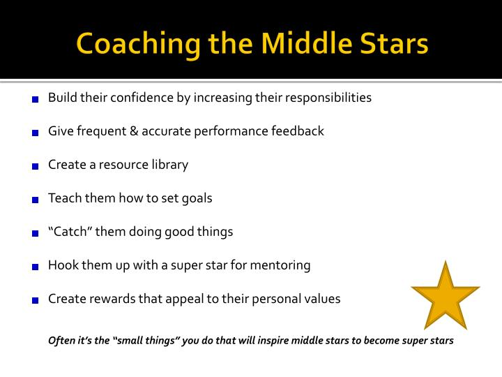 Coaching the Middle Stars