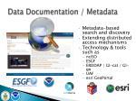 data documentation metadata